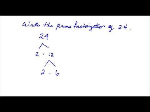 Prime Factorization of 24