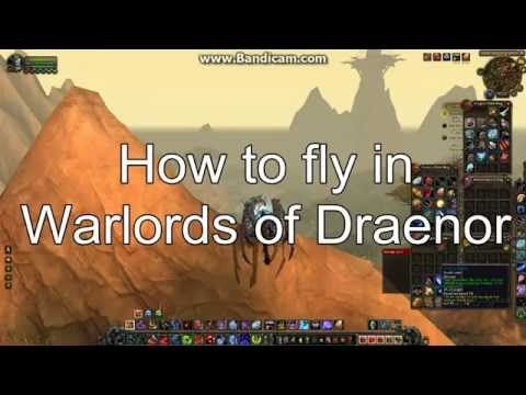 Flying in WoD - How to fly pre 6.1