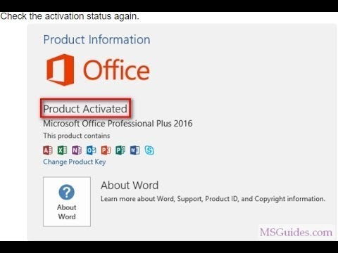 How to activate  ms office 2016  without serial key for free