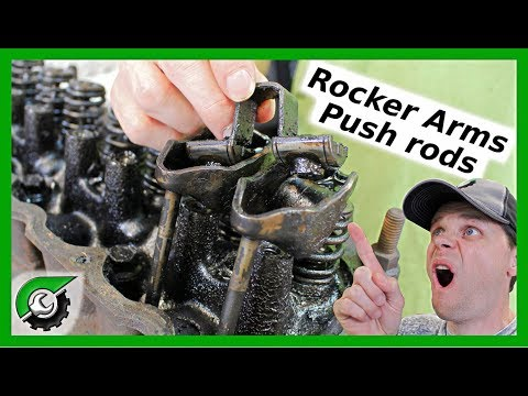 Jeep Wrangler Rocker Arms and Push Rod Removal: Rebuild Part 3