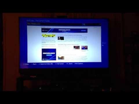 Playstation 4 Internet Browser