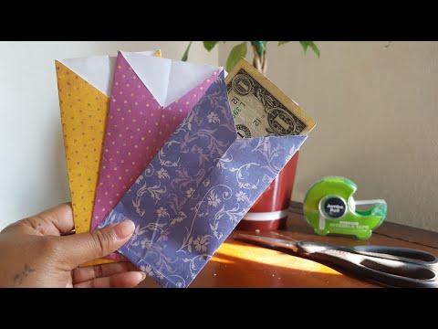 How to make paper cash envelopes | DIY |