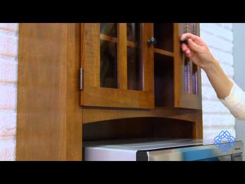 Oak Tall Microwave Cabinet - Bellacor
