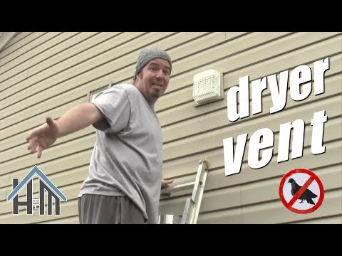 How to install exterior exhaust vent with bird guard. Easy dryer vent!