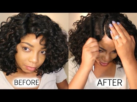 HOW TO MAKE SYNTHETIC WIG LOOK REAL