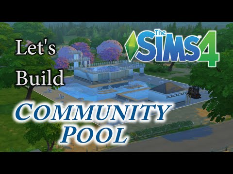 SIMS 4 Speed Build: Community Pool / Water Park