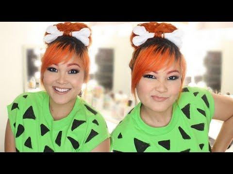 DIY Pebbles Flintstones Halloween Costume (Hair, Makeup & Outfit)