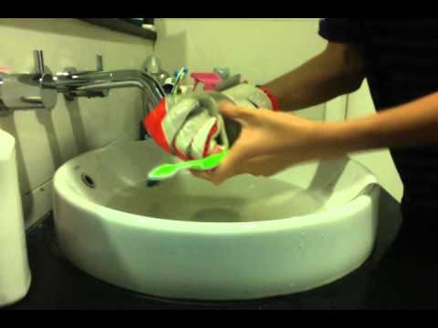 How to wash your goalie gloves