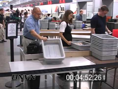 Airport Security Footage - September 2006. Minneapolis International Airport