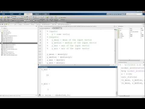 MATLAB Tutorial Lesson #04b:   Multiple Input Output User Defined Functions