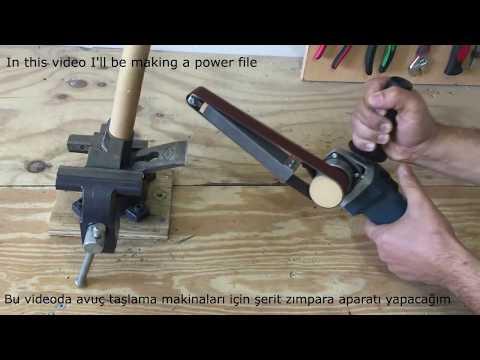 Making a Power File Belt Sander / Angle Grinder Hack