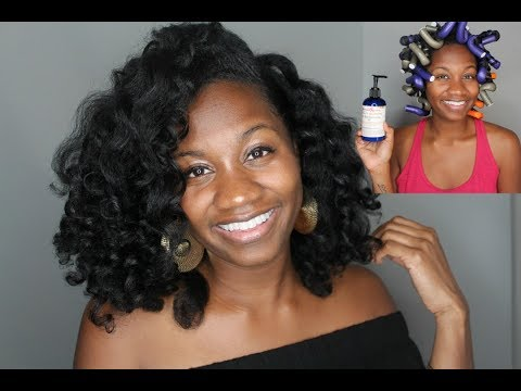 🔥 FLEXI RODS ON BLOWN OUT NATURAL HAIR | EIFFELCURLS