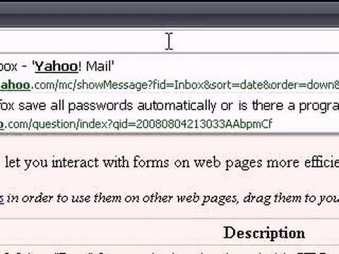 Firefox remember all passwords