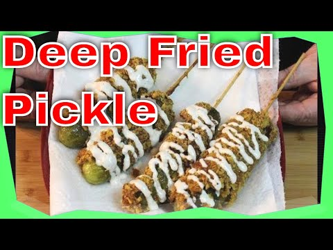 Deep Fried Dill Pickle on a Stick! (Picklesicles)