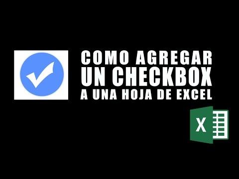 Agregar un checkbox (casilla de verificación) en Excel 2007, 2010, 2013 y 2016