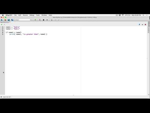 52. Comparing Strings - Learn Python