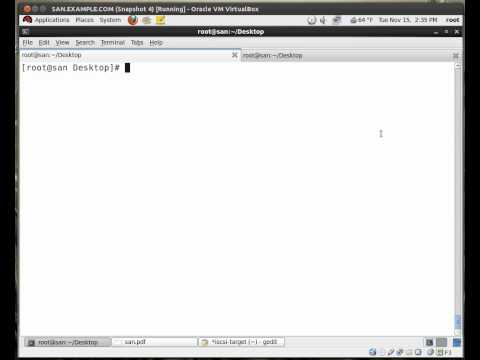 Creating an iSCSI target and LUN on RHEL 6