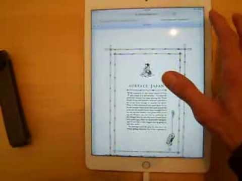 Google Books PDF Test iPad Air 2 Surface Japan