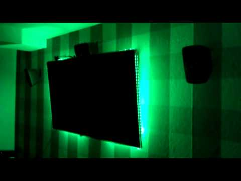 Noninvasive ambilight and room LED system (Arduino, one TV remote, RGB strip)