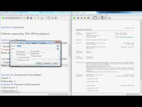 Latex Video Tutorial: How to Create a Resume or CV in Latex