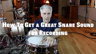 Music Production - How To Get A Great Snare Sound on Your Recordings