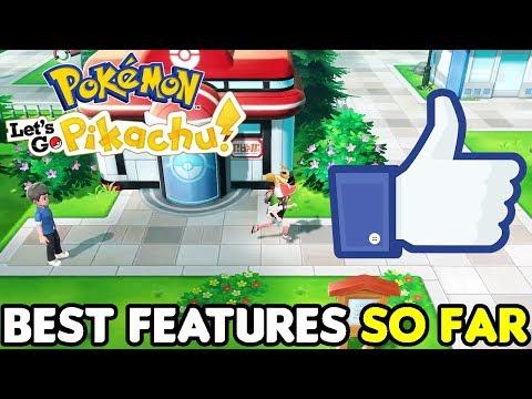 BEST FEATURES in Pokemon Let's Go, Pikachu! & Pokémon: Let's Go, Eevee!