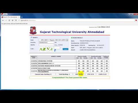 Change GTU Result Temporarily
