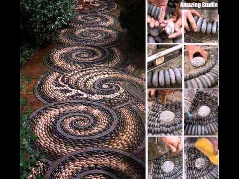 DIY Garden Stone Pathway