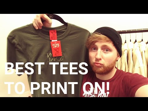Best T Shirts to Print on! How to start your own clothing / Apparel company / tshirt line