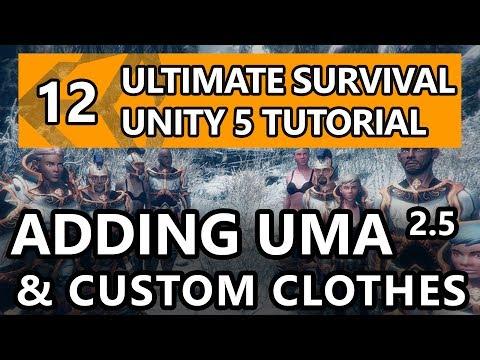 12. Unity Tutorial - How to make a Survival Game - Adding UMA2.5 and Custom Clothes!