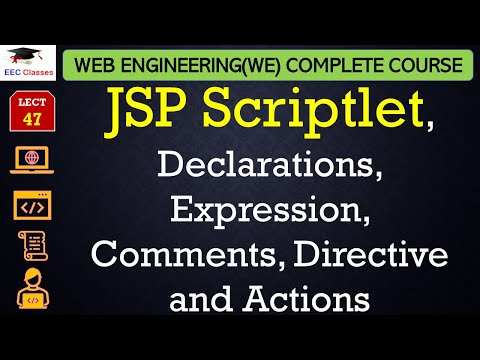 JSP Scriptlet, Declarations, Expression, Comments, Directive and Actions