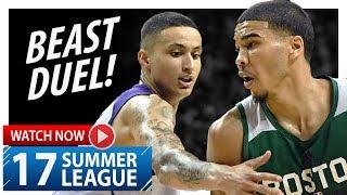 Jayson Tatum vs Kyle Kuzma BEAST Duel Highlights (2017.07.08) Summer League - ELITE!