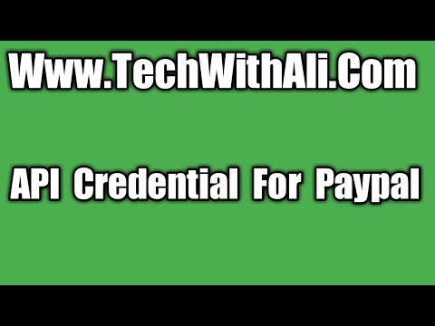 API Credentials for paypal