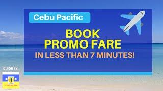 1PISOFARE Book Cebu Pacific in Less Than 7 Minutes!
