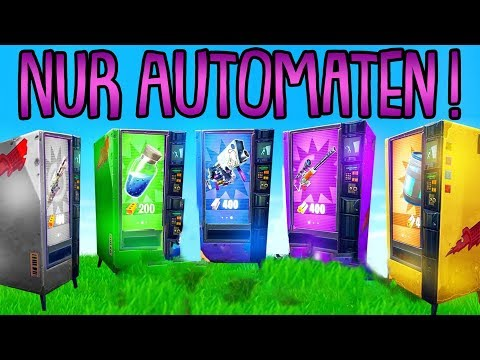 NUR AUTOMATEN CHALLENGE!   (Alles aus Automaten)   Fortnite Battle Royale