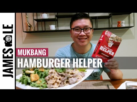 Hamburger Helper MUKBANG - Beef Stroganoff