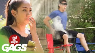 Strangers Let Blind Man Sit on a BARBECUE