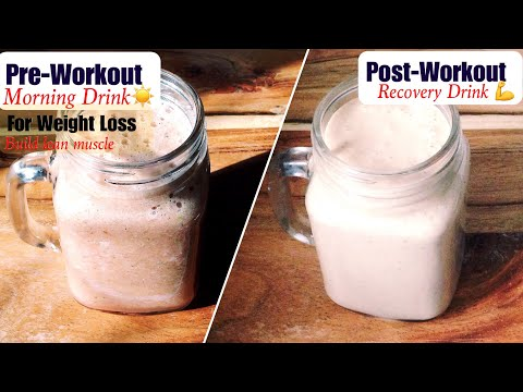 Pre & Post Workout Drink Recipe | How to make Healthy Pre-post Workout Drink |Weight Loss | In Hindi