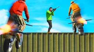 SNIPE THE IMPOSSIBLE FLYING BIKES! (GTA 5 Funny Moments)