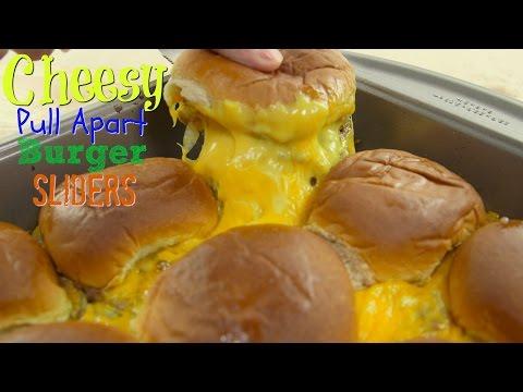 Easy Dinner Recipe: Cheesy Pull-Apart Burger Sliders