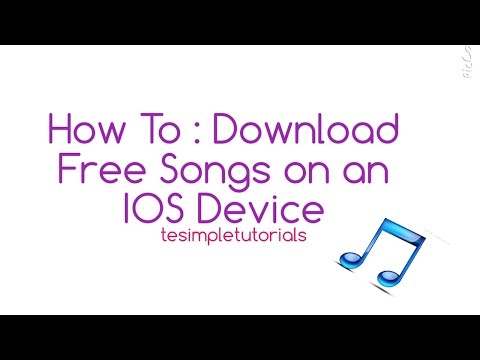 How To : Download Songs onto an IOS Device For FREE ( ACTUALLY WORKS )