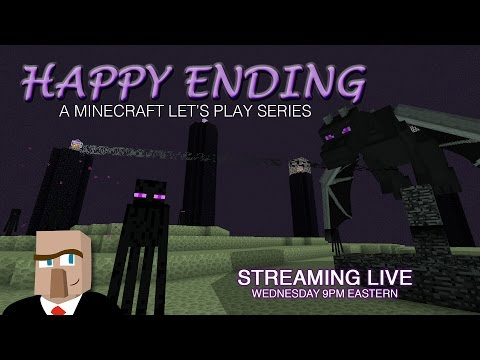 Minecraft HAPPY ENDING #12 Live Stream -- Killing Cows and Adding Floors