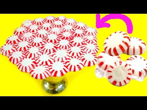 DIY Peppermint Candy Plate without Oven | DIY Christmas Decorations