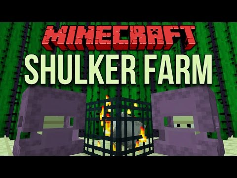 Minecraft 1.11: Automated Shulker Farm (With Mob Spawner)