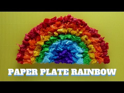 How to Make a Paper Plate Rainbow - Paper Plate Craft