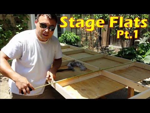 Build A Hollywood Studio Flat - Framing The Wall Panels