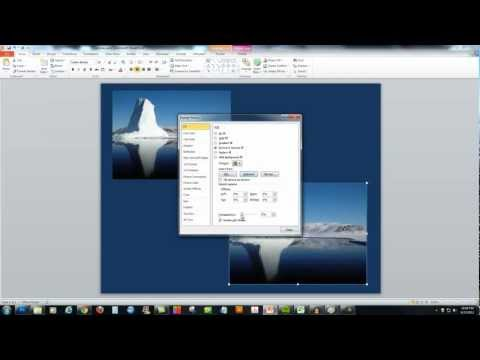 PowerPoint 2010 - Make a Picture Transparent