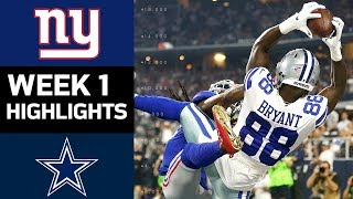 Giants vs. Cowboys | NFL Week 1 Game Highlights