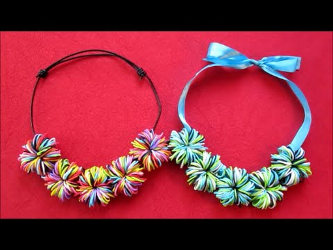 Rainbow Loom Pom Necklace No Or Hook Mom Gift Ideas Diy Crafts Craft For S Birthday Gifts That You Can