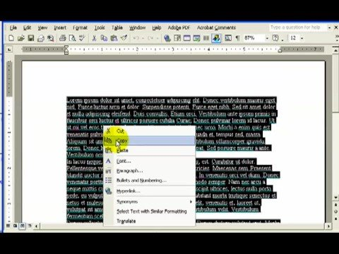 MS Word copy and paste text into brochure layout